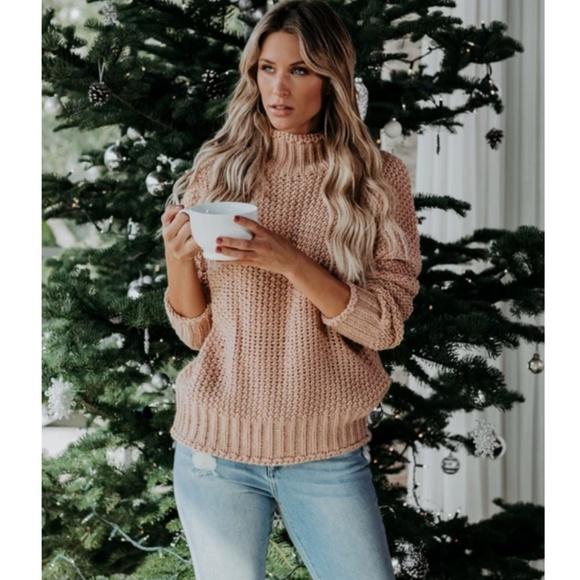 S. the Widow Sweaters - OLYMPIA Mock Neck Knit Sweater